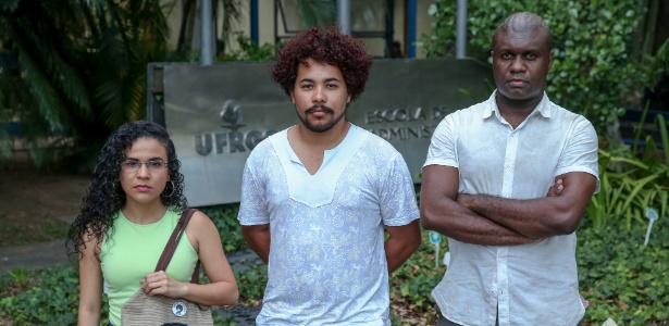 Carla Zanella Souza, Cilas Machado (centro), e Gleidson Renato Martins Dias fazem parte do coletivo Juntos e observam que fraudadores tomam lugar de cotistas