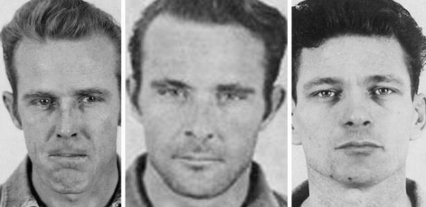 John Anglin, Clarence Anglin e Frank Morris escaparam da prisão em 1962