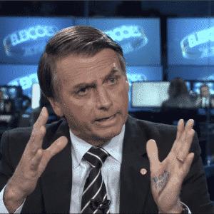 """O candidato à Presidência Jair Bolsonaro (PSL-RJ) em entrevista no """"Jornal Nacional"""" - Reprodução/TV Globo"""