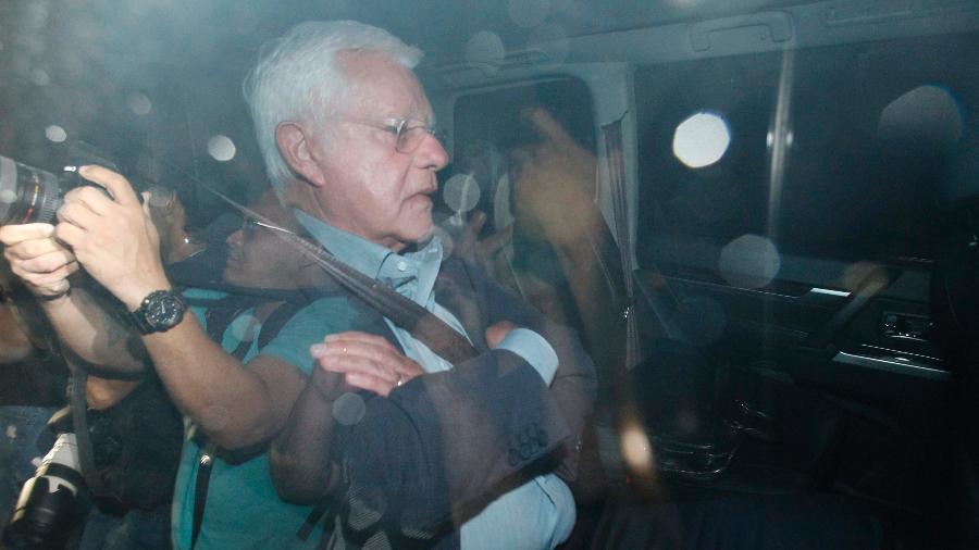 21.mar.2019 - O ex-ministro Moreira Franco foi preso preventivamente ontem - Alexandre Brum/Agência O Dia/Estadão Conteúdo