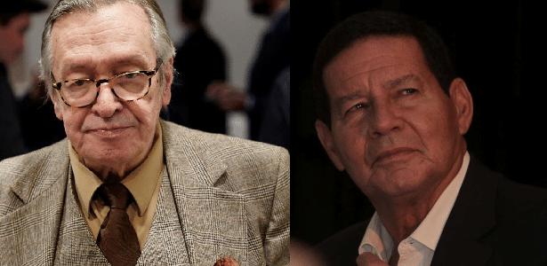 Cinco momentos que explicam a rusga entre Olavo de Carvalho e Mourão