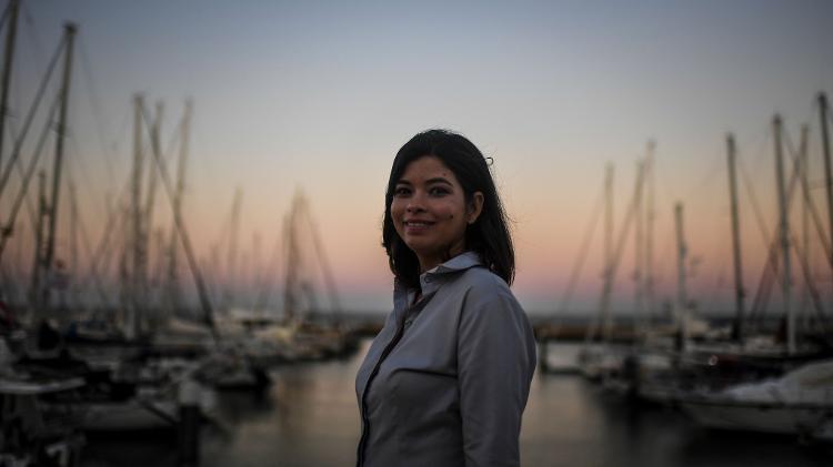 "20.jul.2019 - Brasileira Meg Macedo se mudou para Lisboa, um lugar ""aberto e progressista"", segundo ela - Patrícia de Melo Moreira/AFP"