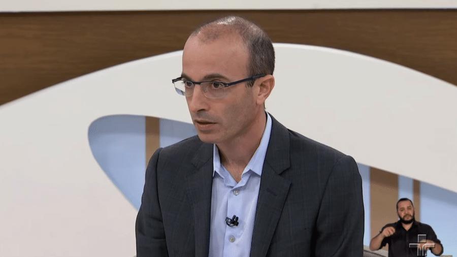 O escritor e professor Yuval Harari em entrevista ao Roda Viva - Reprodução/TV Cultura