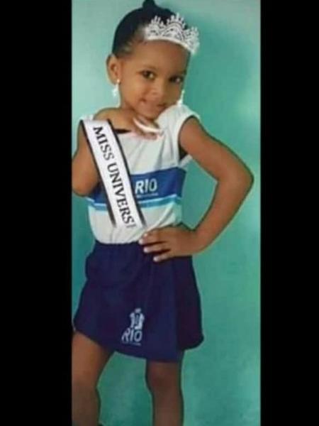 Ketellen Umbelino de Oliveira Gomes, de 5 anos, morreu após ser baleada em Realengo - Reprodução/Rede Social
