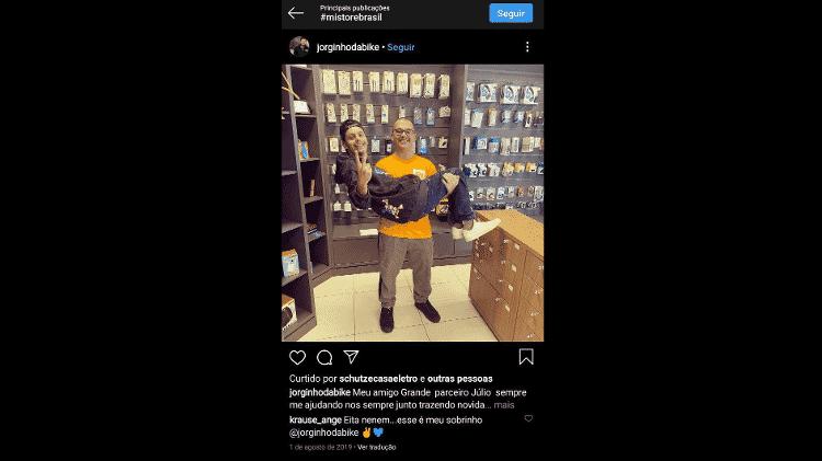 Reprodução/Instagram @jorginhodabike