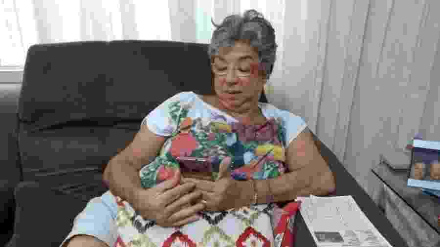 Ana Lúcia Faria da Costa quer se empenhar para aprender a mexer melhor no celular - Arquivo pessoal