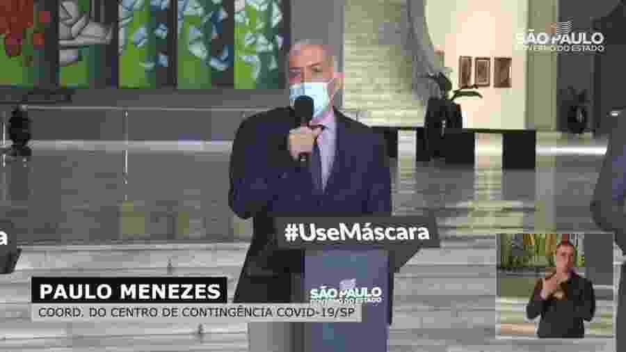 Paulo Menezes, médico que coordena o Centro de Contingência do Coronavírus em SP - Reprodução