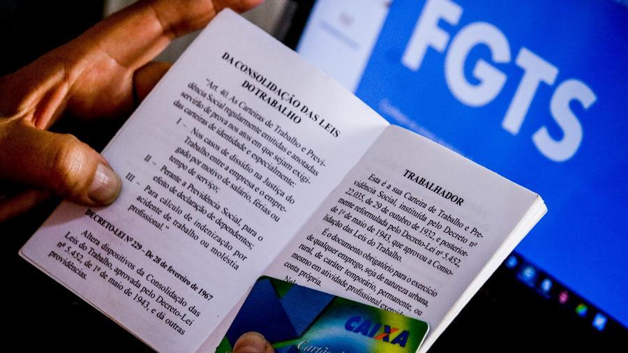 Trabalhador pode consultar o extrato do FGTS para saber se foi contemplado - Aloísio Maurício/Fotoarena/Estadão Conteúdo