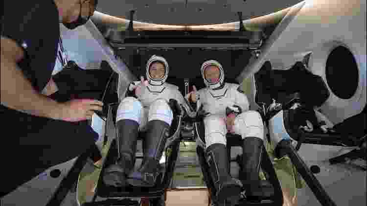 02.ago.2020 - Os astronautas norte-americanos Robert Behnken e Douglas Hurley estão de volta à Terra, após dois meses vivendo na Estação Espacial Internacional (ISS) - Divulgação Nasa - Divulgação Nasa