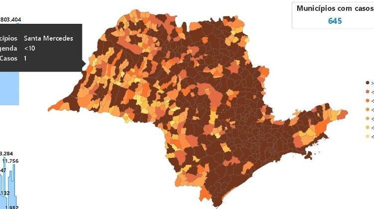 Covid-19 chega a todos os municípios de São Paulo - Reprodução/Governo do Estado de São Paulo - Reprodução/Governo do Estado de São Paulo