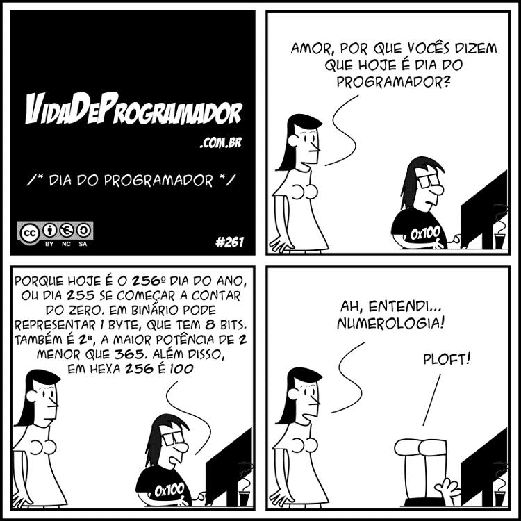 Tirinha #261: Por que hoje é o Dia do Programador - Vida de Programador - Vida de Programador