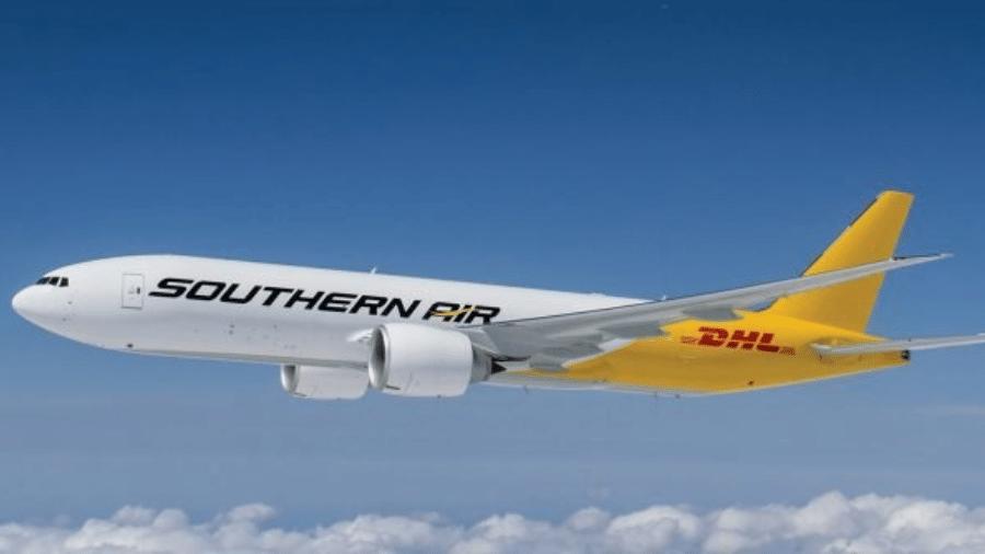 Avião da companhia aérea norte-americana Southern Air, que passará a operar no Brasil - Divulgação