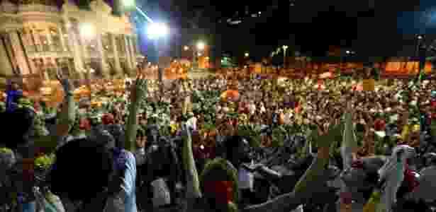 Cinelândia, no Rio, tem ato contra impeachment - Fábio Motta/Estadão Conteúdo - Fábio Motta/Estadão Conteúdo