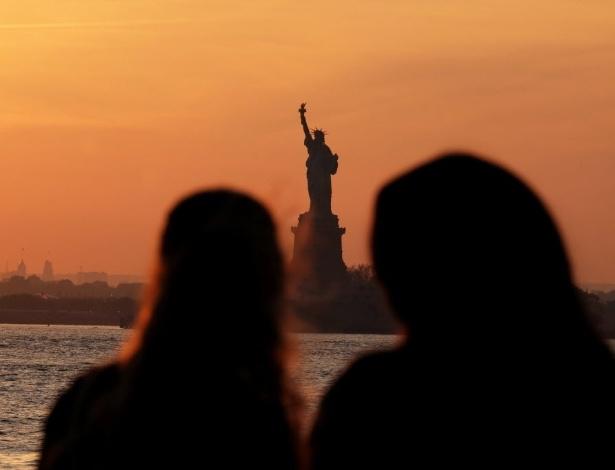 A Estátua da Liberdade, em Nova York (EUA), um dos ícones norte-americanos