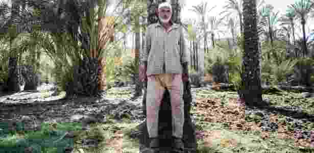 8.jun.2016 - Mohammed el-Ghatani perdeu um filho há dois anos e um sobrinho há um mês, que se afogaram no Mediterrâneo tentando chegar à Europa, em Burg Migheizil, no Egito - David Degner/The New York Times - David Degner/The New York Times