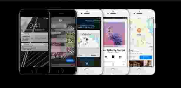 iOS 10 no iPhone 7 - Reprodução