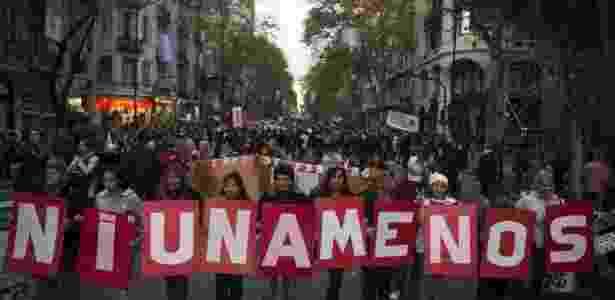 Manifestação do coletivo Ni Una Menos na Argentina, no ano passado - AFP/Arquivo - 19/10/2016