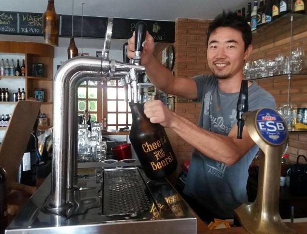 O empresário João Renato Kenji Hira, 33, dono do St. Brew Store & Bar