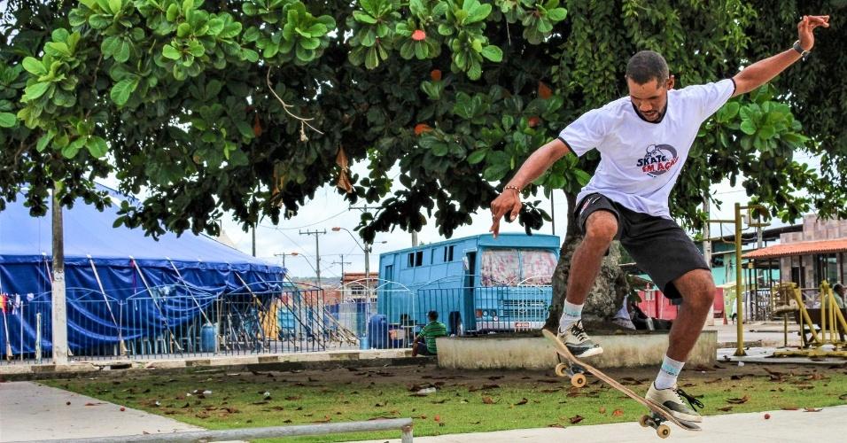 Para o presidente do Skate em Ação, Vanilson Silva, o esporte é crucial para mudar a realidade da violência em Mata de São João (BA)