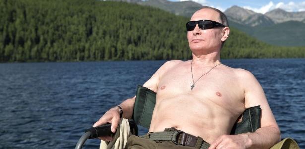 O presidente russo, Vladimir Putin, durante suas férias na região de Tuva, na Sibéria - Alexey Nikolsky/ Sputnik/ AFP