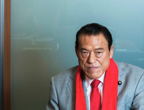 Antonio Inoki, 74, foi um dos mais populares lutadores profissionais do Japão