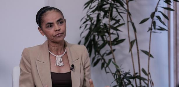 8.nov.2017 - A ex-senadora Marina Silva dá entrevista no escritório da Rede em Brasília