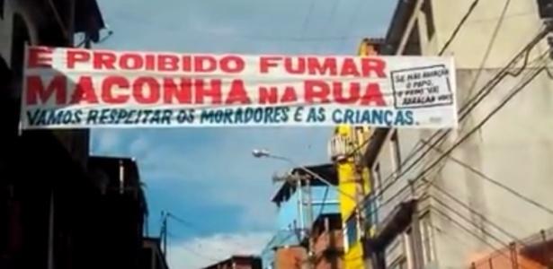 Faixa atribuída a traficantes da cidade de Macaé pede respeito a moradores e crianças