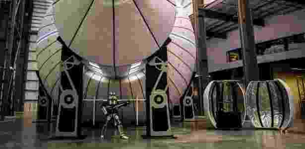 Um modelo da estação espacial Olympus em Bigelow Aerospace, em Las Vegas - Joe Buglewicz/NYT - Joe Buglewicz/NYT
