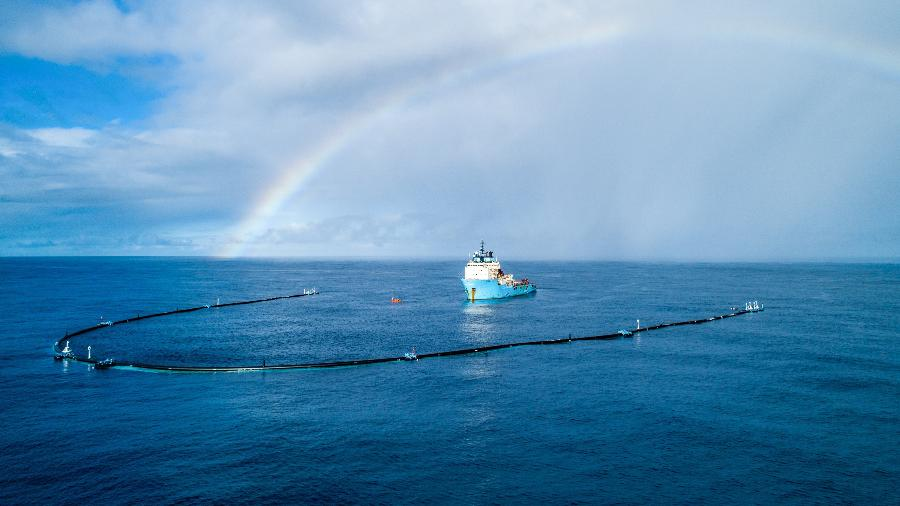 Projeto Ocean Cleanup precisará repensar partes de seu coletor - The Ocean Cleanup/Divulgação