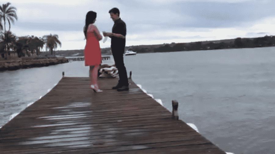 Fotógrafa cai no Lago Paranoá durante pedido de casamento -