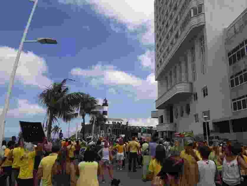Protestos a favor do governo na Bahia - Reprodução/Twitter