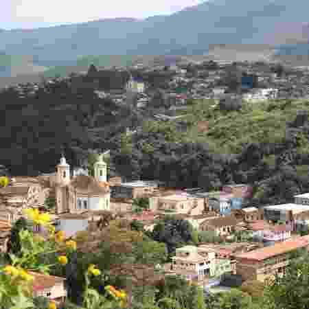 Vista de parte do centro de Barão de Cocais - Luciana Quierati/UOL