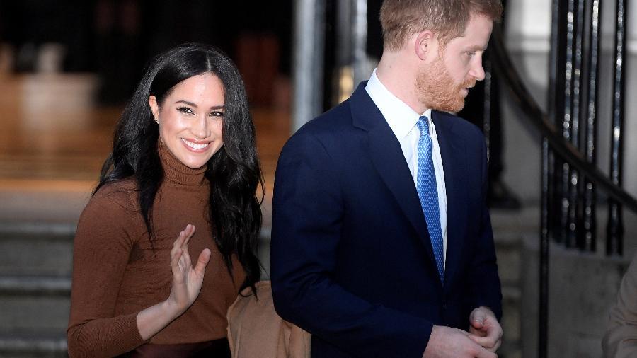 Príncipe Harry e Meghan Markle em visita à Canada House, em Londres - Toby Melville