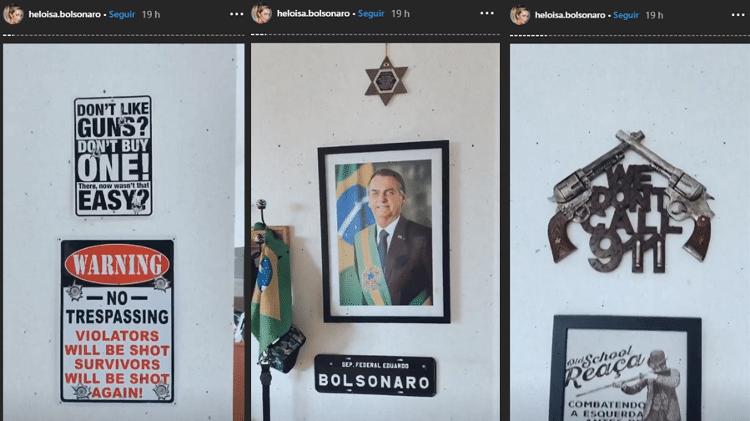 Detalhes do apartamento de Heloísa e Eduardo Bolsonaro, em Brasília - Reprodução/Stories - Reprodução/Stories