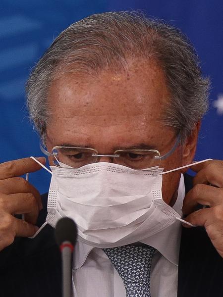 Paulo Guedes recebeu o resultado do exame para coronavírus no dia 20 de março - Pedro Ladeira/Folhapress