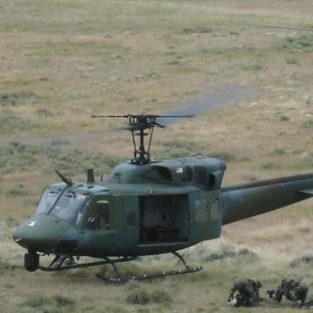 Helicóptero UH-1N Huey, mesmo modelo que foi atingido por tiros nos Estados Unidos - Reprodução / Força Aérea dos Estados Unidos