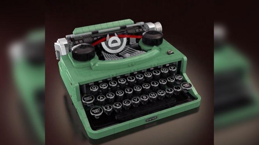 Lego lança máquina de escrever com 2 mil peças por R$ 1 mil - Reprodução/Instagram