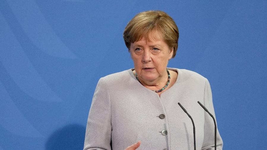 A chanceler da Alemanha, Angela Merkel, alertou sobre a situação causada pelo aumento contínuo do número de casos de covid-19 e fez um apelo para população - Pool/Getty Images