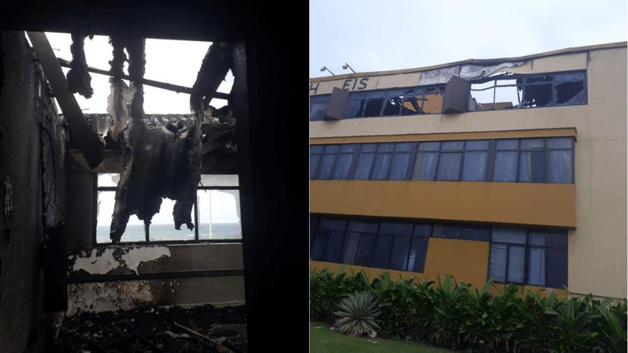 Cerca de 70 hóspedes foram retirados do local; incidente não deixou vítimas - Divulgação/Codesal