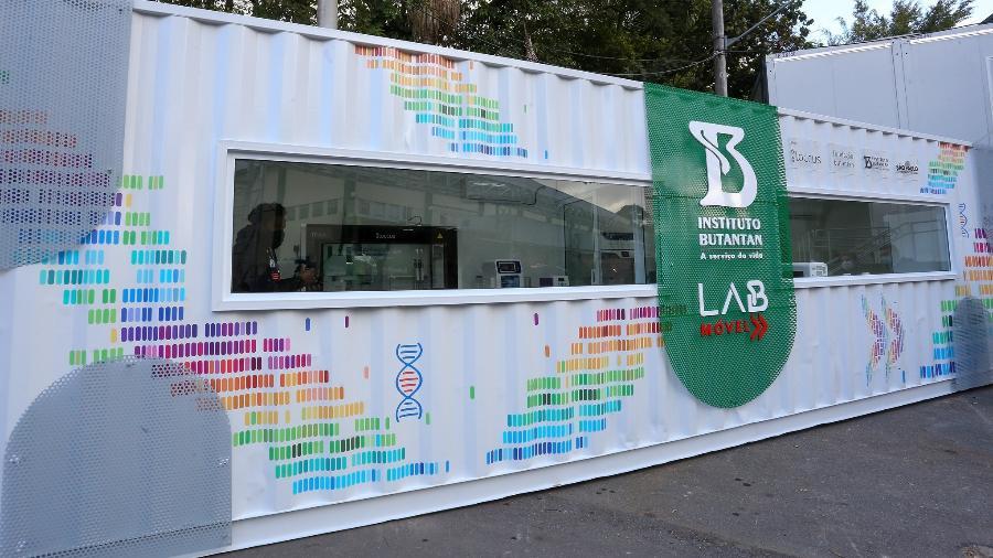 Laboratório Móvel de Análises de variantes do coronavírus do Instituto Butantan - Sergio Andrade/Divulgação/Governo SP