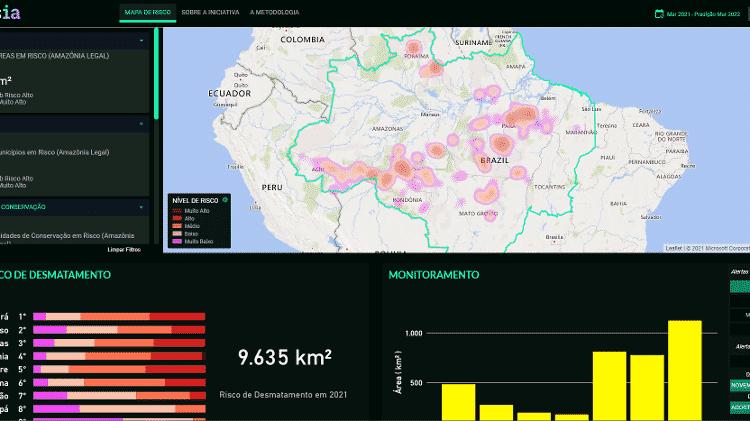 Plataforma PrevisIA ajuda na prevenção de desmatamento da Amazônia - Reprodução - Reprodução