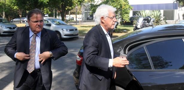 Geddel Vieira Lima e Moreira Franco chegam a escritório do PMDB para reunião com Temer