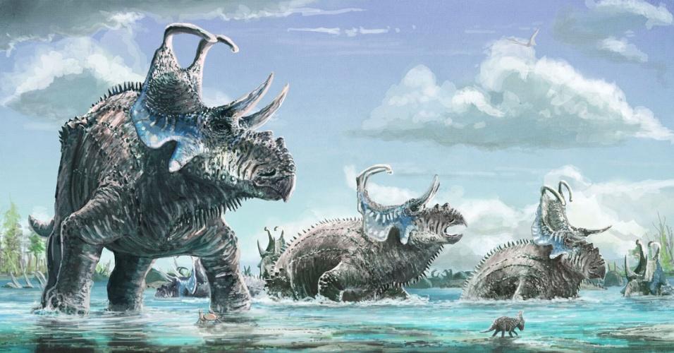 Machairoceratops cronusi: Nova espécie de dinossauro com quatro chifres é descoberta nos EUA