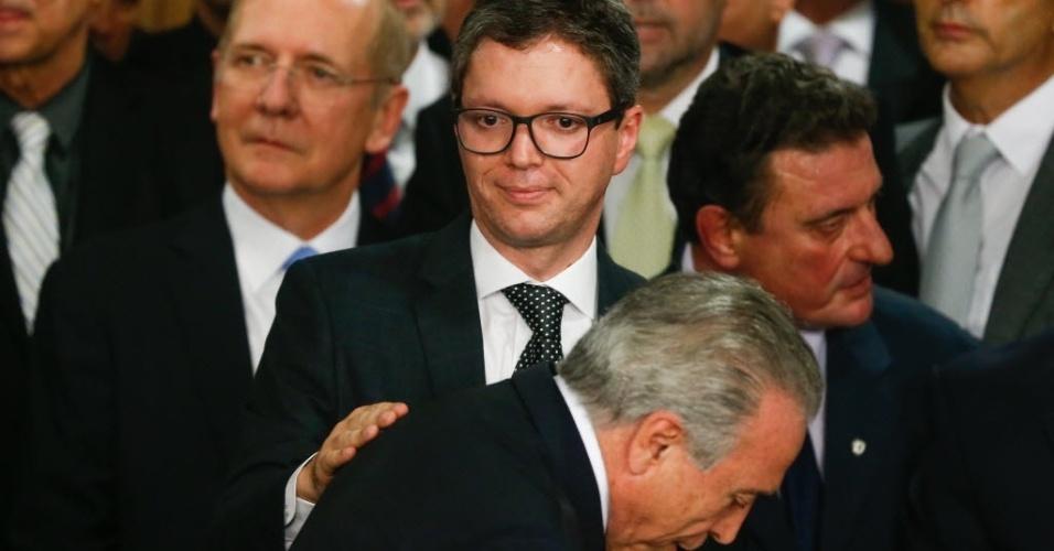 O ministro Fabiano Silveira, de Fiscalização, Transparência e Controle, durante cerimônia de posse dos ministros do governo do presidente interino, Michel Temer (PMDB)