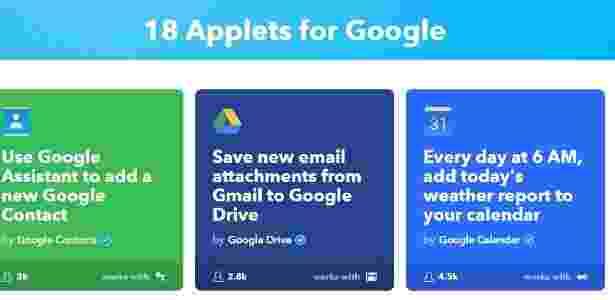 7.mar.2017 - Applets para Google - Reprodução - Reprodução
