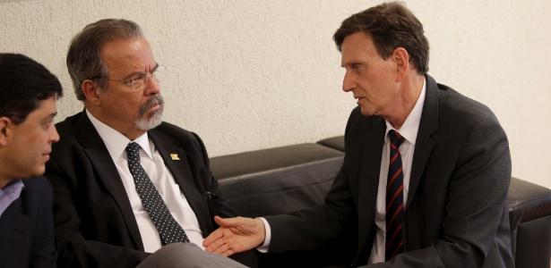 31.jul.2017 - Ministro da Defesa Raul Jungmann se reune com o prefeito Marcelo Crivella