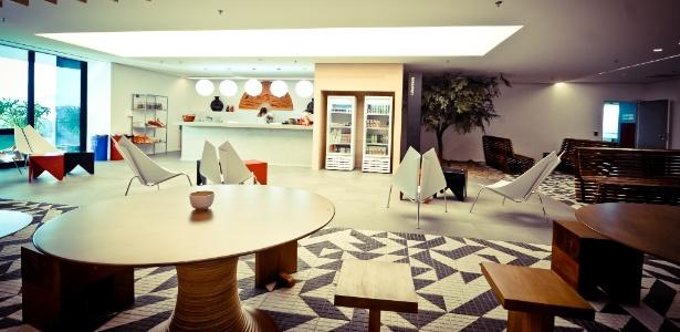 No escritório do Google, em São Paulo, funcionários podem comer à vontade