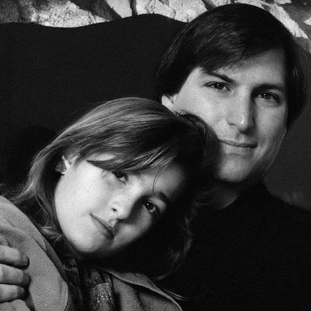Steve Jobs e Lisa Brennan-Jobs na infância - Reprodução