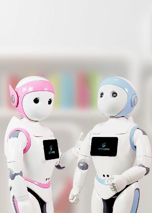 Robôs têm tamanho de criança de 5 anos