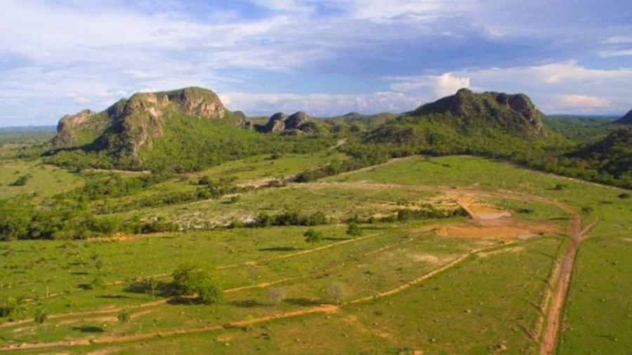 Parte das montanhas de Araguainha, na área central da cratera - Rodinei Crescêncio/Rdnews